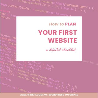 How to plan a Wordpress Website
