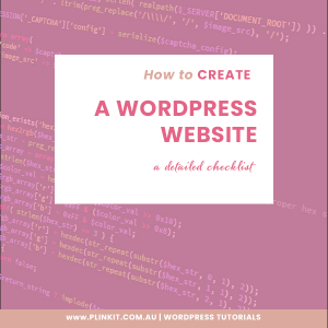 How to create a Wordpress Website a detailed checklist
