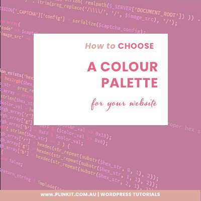 How to choose a colour palette for your website