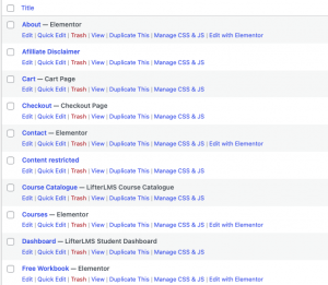 WordPress Website Page List-2
