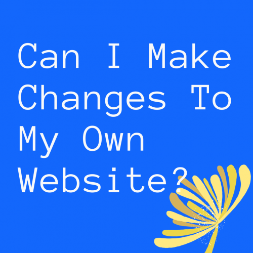 Can I make changes to my own website