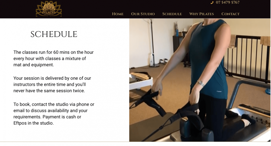 Pilates on Centre Maroochydore website 2